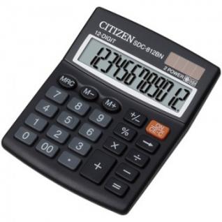 Калькулятор настольный КОМПАКТНЫЙ CITIZEN бухг. SDC812BN 12 разрядов DP
