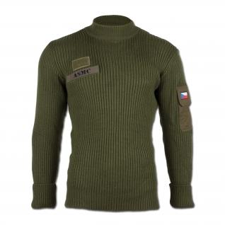Пуловер, Чехия, цвет оливковый, б/у