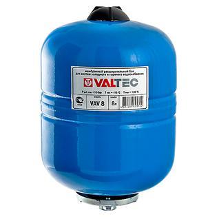 Бак расширительный Valtec для ГВС и ХВС 8 литров СИНИЙ