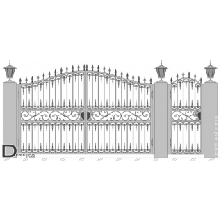 Кованые ворота калитка В-019 (2м x 3.5м)