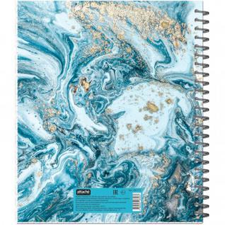 Бизнес-тетрадь А5,96л,кл,греб,ламин.обл. Attache Selection Fluid Серо-Голуб