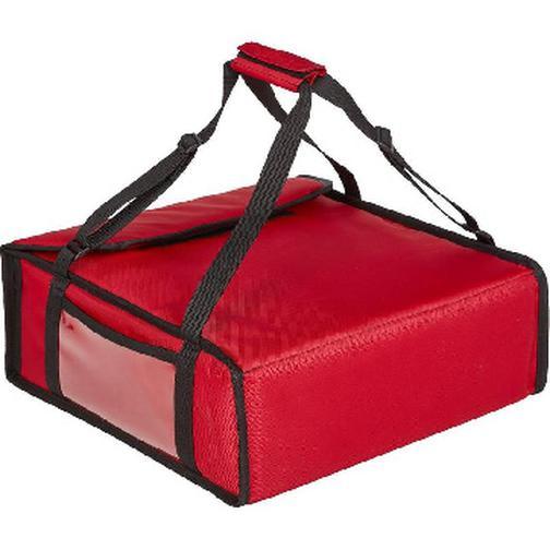 Термосумка для пиццы ткань красная 42х42х15 (на 3 пиццы) 42472545 2