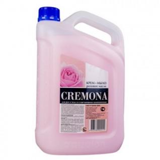 Мыло жидкое Крем-мыло КРЕМОНА 5л Розовое масло