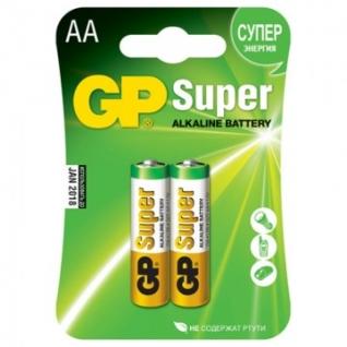 Батарейки GP Super AA/LR6/15A GP15A-2CR2 алкалин. бл/2