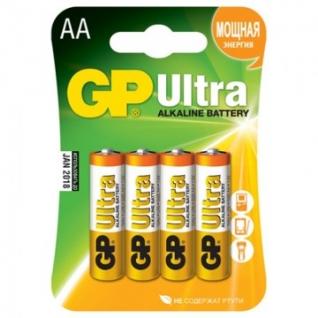 Батарейки GP Ultra AA/LR6/15AU алкалин. бл/4 GP15AU-2CR4