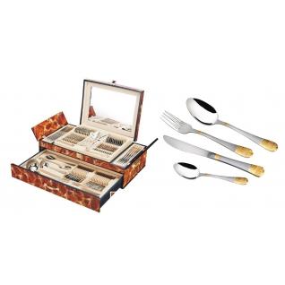 Столовый набор 72 предмета Hans Müller, Версаче, коричневый мрамор