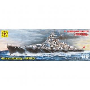 """Сборная модель """"Немецкий линкор Тирпиц"""", 1:800 Моделист"""