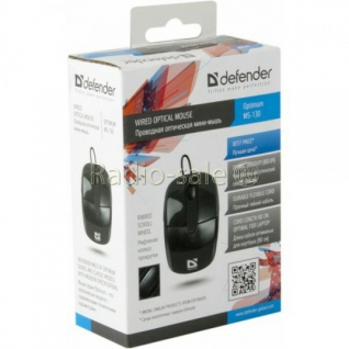 Мышь Defender Optimum MS-130 Black (USB), 800dpi, черный
