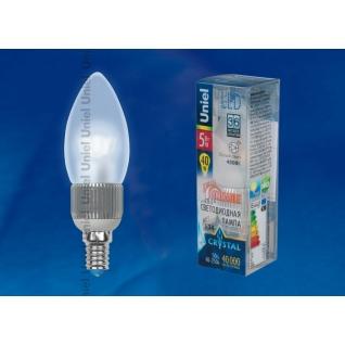 Uniel LED-C37P-5W/NW/E14/FR/DIM ALC03SL пластик
