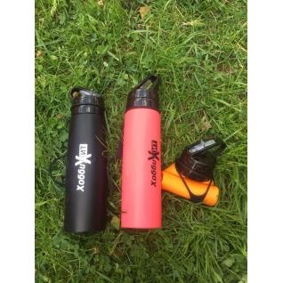 Бутылка для воды силиконовая складная 500 мл оранжевая Hobbyxit
