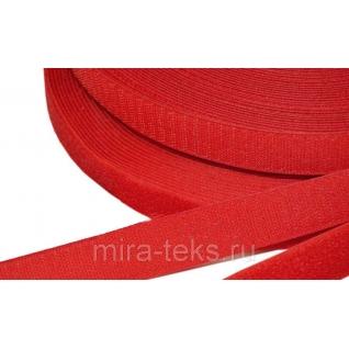 Липучка 50 мм ( лента контакт, велькро ) для одежды, цвет: красный Miratex