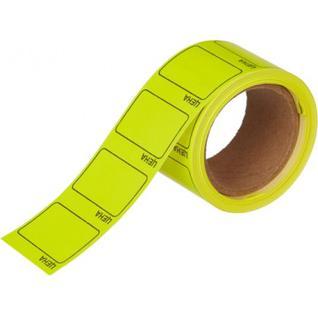 Ценники самоклеящиеся Цена 35x25мм,желтая 250шт/рул, 5 рул/уп