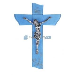 """Распятие """"Иисус"""" с посеребрением"""