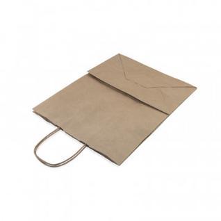 Пакет бумажный крафт бурый с крученой ручкой 260х150х350 мм.200 шт/уп