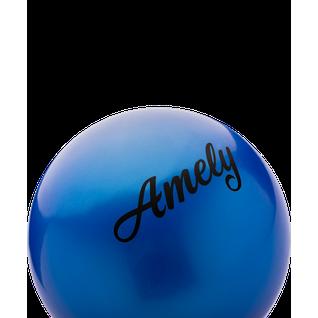 Мяч для художественной гимнастики Amely Agb-101, 15 см, синий