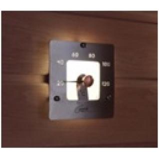 Квадратный термометр Cariitti SQ с матовым стеклом, требуется 1 оптоволокно D=2-4 мм, артикул 1545828