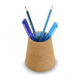 Стакан для ручек пробковый (синий) J-me