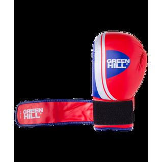 Перчатки боксерские Green Hill Knockout Bgk-2266, 10oz, к/з, красный