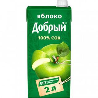 Сок Добрый яблочный 2 л