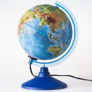 """Рельефный глобус Земли """"Евро"""" - Физико-политический (свет), 25 см Globen"""
