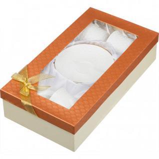 Сервиз чайный 240мл фарфор белый 8пр. (25777)