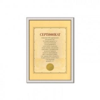Фоторамка Сертификат 21х29,7 (A4) серебро 521420-A4 (38)