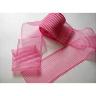 Лента гофрированная лн.0015 80 мм для новорожденных, цвет розовый Спортбэби