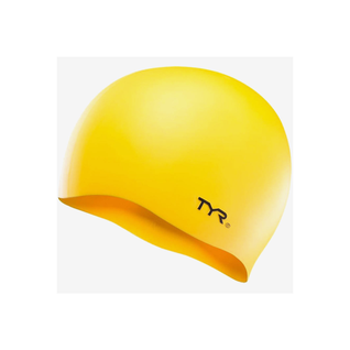 Шапочка для плавания Tyr Wrinkle-free Silicone Cap, силикон, Lcsl/720, желтый