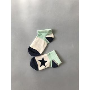 CT-42 носки детские бело синий носок и пятка звезды Katamino (12-18) (14)