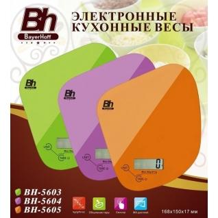 Электронные кухонные весы Bayerhoff, цвет розовый