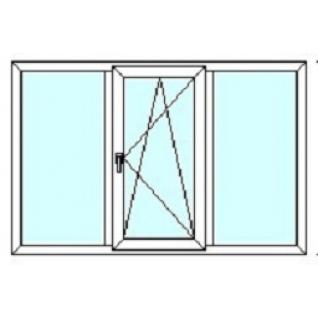 TEPLOWIN Трехстворчатое окно Darrio Гост 200 с одной створкой
