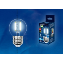 Uniel LED-G45-6W/NW/E27/CL PLS02WH картон