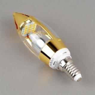 Elvan E14-5W-3000K-Q68 Лампа LED (Свеча золото)