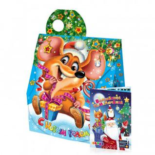 Новогодний сладкий подарок Ушастик картон 500 г Roko