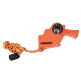 Свисток 4 в 1, цвет оранжевый