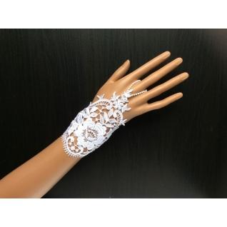 Перчатки свадебные №156, белый (13 см)