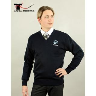 Пуловер мужской прямого покроя, модель «Гамма»