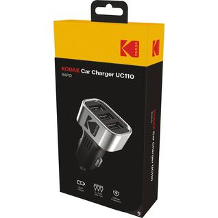 Автомобильное зарядное устройство KODAK UC110(3 USB, Quick Charge 3.0)