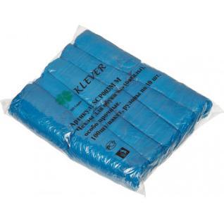Бахилы н/с, п/э гладкие 3г (6г/пара) Klever SCP003 50пар/уп.