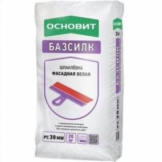 Шпаклевка Основит Базсилк PC 30 MW цементная белая (Т-30) /20,0 кг/ (72 шт на поддоне)