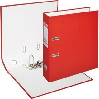 Папка-регистратор BANTEX ECONOMY, 1446-09, б/мет.уг., 70мм, красный
