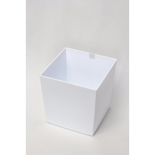 Кашпо пластиковое белое