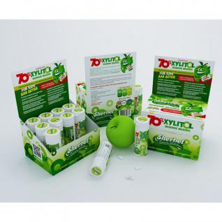 Жевательная резинка Sherbet зеленое яблоко 70% ксилита, 32г