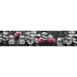 Фартук для кухни АБС Лед и Вишня №31 600х3000х1,5мм
