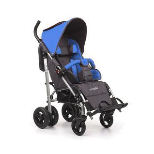 АРМЕД Кресло-коляска для детей-инвалидов и детей с заболеваниями ДЦП с принадлежностями: VCG0C UMBRELLA NEW (пневмо, синий-серый)