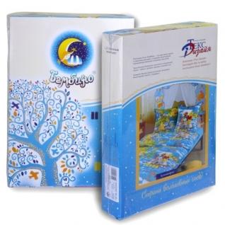 Комплект детского постельного белья 1,5-спальный Космические приключения, бязь