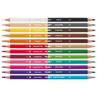 Карандаши цветные 24цв 12шт двухсторонние 3-гран Milan, 07112312