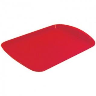 Поднос прямоугольный 470х330 мм красный, ПП