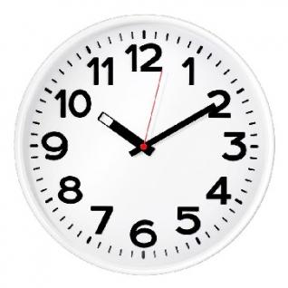 Часы настенные Troyka 78771783 круг., d305мм, плав.ход, пластик белый