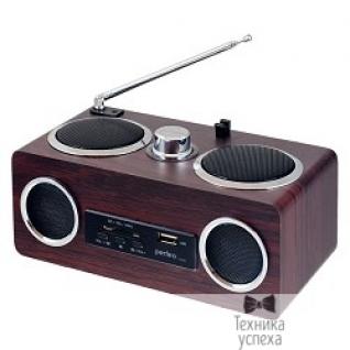 Perfeo Perfeo мини-аудио ТЕМБР FM, MP3 USB/SD, стерео 2х3Вт, USB/встроенный аккумулятор, дерево (i150)